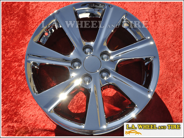 "Toyota Highlander OEM 17"" Set of 4 Chrome Wheels 69580 (Wheels)"