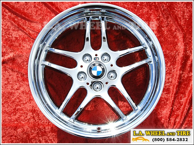 "BMW 7-series Style 37 (M37) M-Parallel OEM Forged 18"" Set of 4 Chrome Wheels"