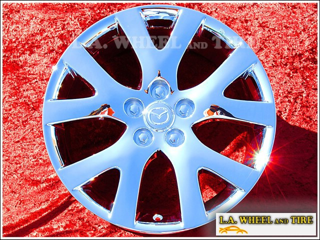 "Mazda CX-7 OEM 18"" Set of 4 Chrome Wheels 64893"
