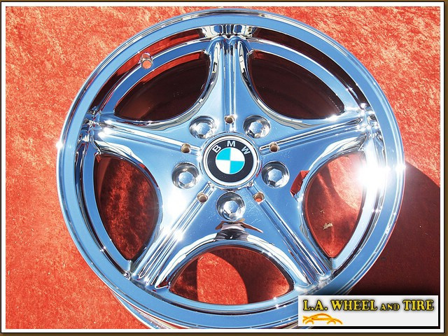 "BMW Z3 Style 35 OEM 16"" Set of 4 Chrome Wheels 59212"