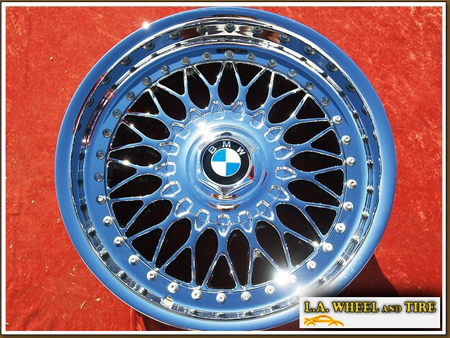 "BMW 5-series Sport Style 5 OEM 17"" Set of 4 Chrome Wheels 59255"