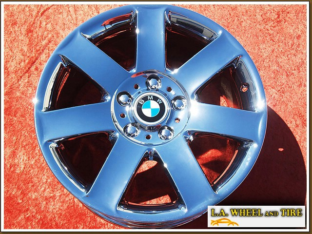 "BMW 3-series Sport Style 44 OEM 17"" Set of 4 Chrome Wheels 59290"
