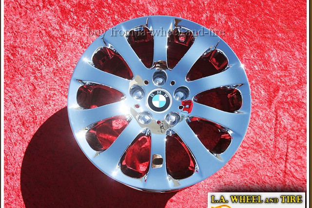 "BMW 3-series Style 159 OEM 17"" Set of 4 Chrome Wheels 59582"