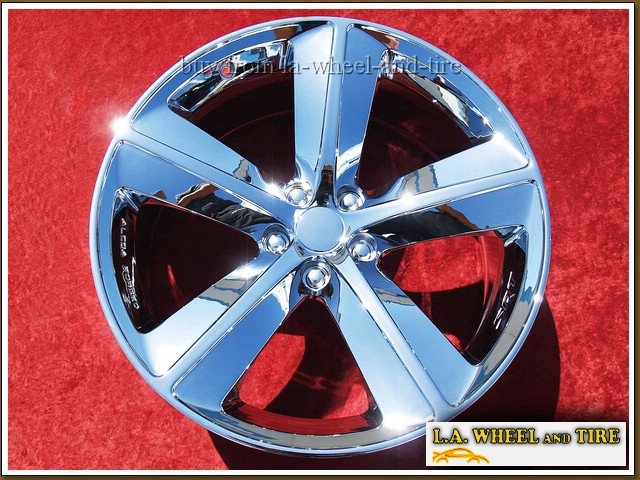"Dodge Charger / Challenger SRT8 Forged OEM 20"" Set of 4 Chrome Wheels"