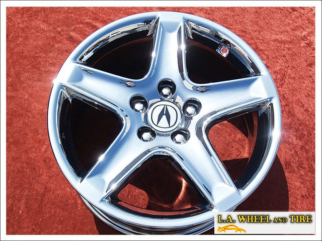 "Acura TL OEM 17"" Set of 4 Chrome Wheels 71733"