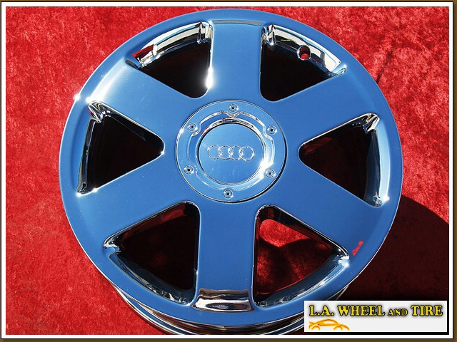 "Audi TT OEM 17"" Set of 4 Chrome Wheels 58727"