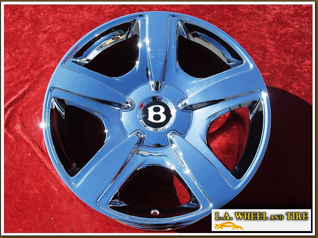 "Bentley Continental GTC OEM Forged 19"" Set of 4 Chrome Wheels NH1099"