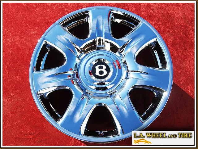 "Bentley Continental GT / Flying Spur OEM Forged 19"" Set of 4 Chrome Wheels NH1100"