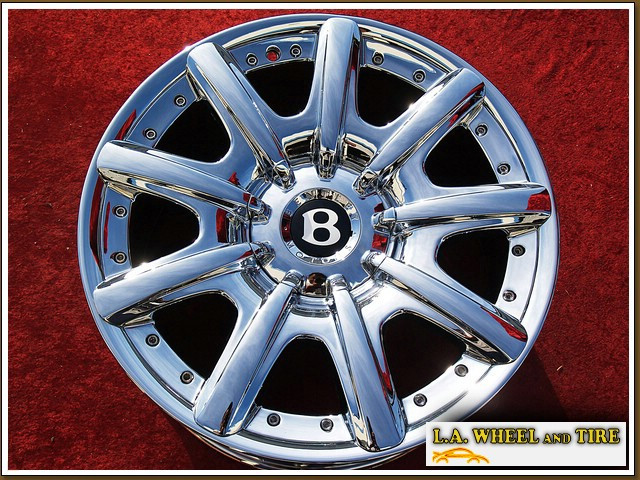 """Bentley Continental GT / GTC / Flying Spur OEM Forged 19"""" Set of 4 Chrome Wheels NH1102"""