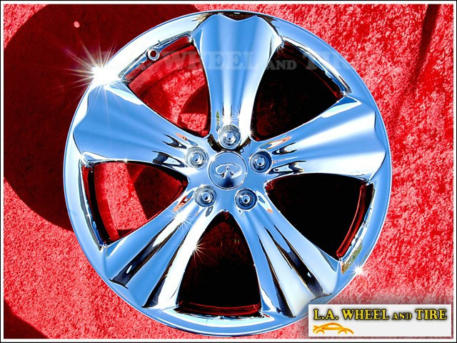 "Infiniti FX35 Sport OEM 20"" Set of 4 Chrome Wheels 73714"