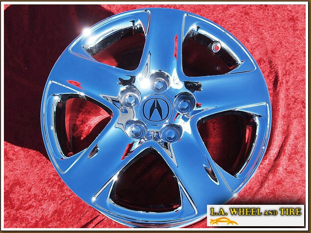 "Acura RL OEM 17"" Set of 4 Chrome Wheels 71743"