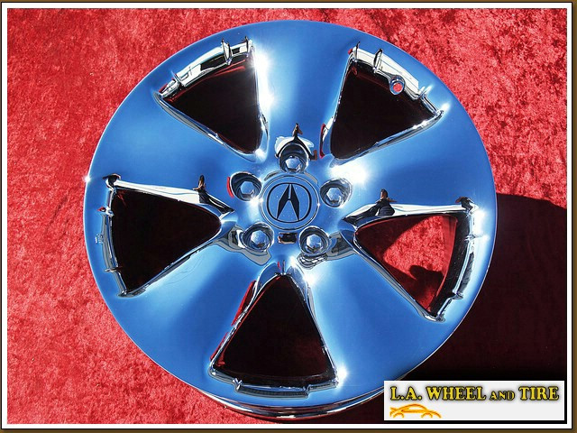 "Acura RDX OEM 18"" Set of 4 Chrome Wheels 71757"