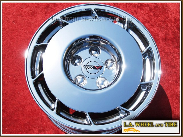 "Chevrolet Corvette OEM 16"" x 9.5"" Set of 4 Chrome Wheels 1347"