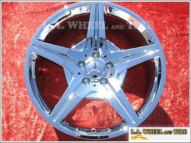 "Mercedes-Benz SL-class OEM 19"" Set of 4 Chrome Wheels"