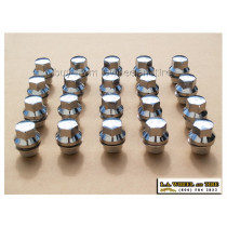 Set of 20 Land Rover Chrome Lugs 14 x 1.5 Large Mag Style LN3500