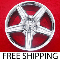 "Set of 4 New Chrome 18"" Mercedes Benz E63 AMG Factory OEM Wheels Rims 65434"
