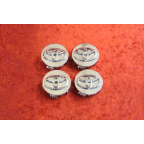 Set of 4 Chrome Center caps TOYOTA