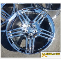 "SET OF 4 NEW CHROME 19"" MERCEDES BENZ CLS55 CLS63 AMG OEM WHEELS 85066 85067 EXCHANGE"