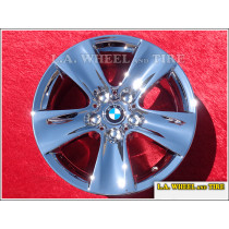 "BMW 5-Series Style 327 OEM 17"" Set of 4 Chrome Wheels"