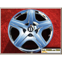 """Bentley Continental GT / Flying Spur OEM Forged 19"""" Set of 4 Chrome Wheels"""