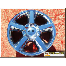 "Chevrolet Avalanche / Silverado 1500 / Suburban / Tahoe OEM 20"" Set of 4 Chrome Wheels"