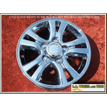 "Lexus LX470 OEM 18"" Set of 4 Chrome Wheels 74163"