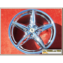 "Ferrari 360 OEM 18"" Set of 4 Chrome Wheels NH1064"