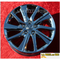 "Lexus ES300H OEM 17"" Set Of 4 Chrome Wheels 74333 EXCHANGE"