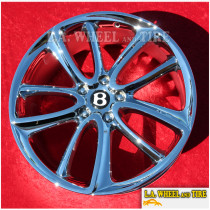 """Bentley Continental GT  OEM Forged 22"""" Set Of 4 Chrome Wheels NH1430"""