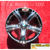 "BMW 3-Series Style 393 OEM 17"" Set of 4 Chrome Wheels 71535"