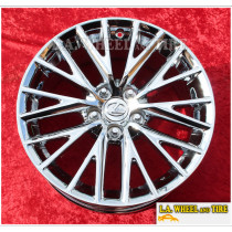 "Lexus IS 18"" Set of 4 Chrome OEM Wheels 74288 EXCHANGE"
