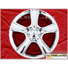 "Mercedes Benz C300 / C350 OEM 17"" Set of 4 Chrome Wheels 85099"