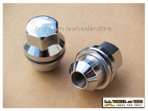 Set of 5 Land Rover Chrome Lugs 14 x 1.5 Large Mag Style LN3500