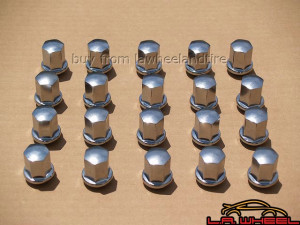Set of 20 Porsche Chrome Lugs 14 x 1.5 Ball Seat LN3600