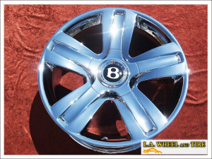 "Bentley Continental GT / Flying Spur OEM Forged 19"" Set of 4 Chrome Wheels NH1098"