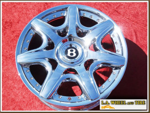 "Bentley Continental Mulliner Edition OEM Forged 20"" Set of 4 Chrome Wheels NH1113"