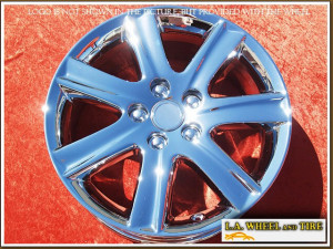 "Lexus ES350 OEM 17"" Set of 4 Chrome Wheels 74190"